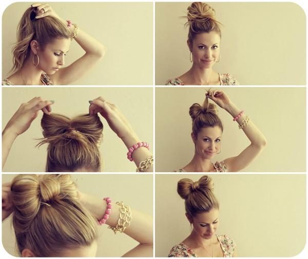 Как сделать красивые причёски бантик