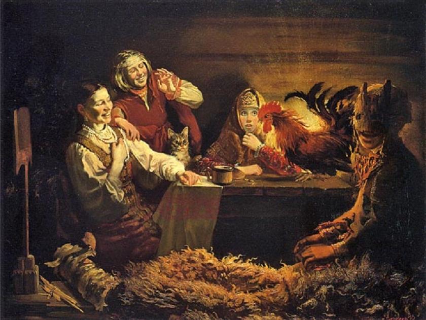 Раз, в крещенский вечерок Старинные девичьи гадания