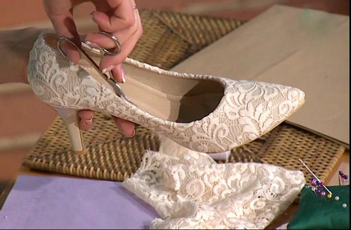 Кружевные туфли своими руками 19