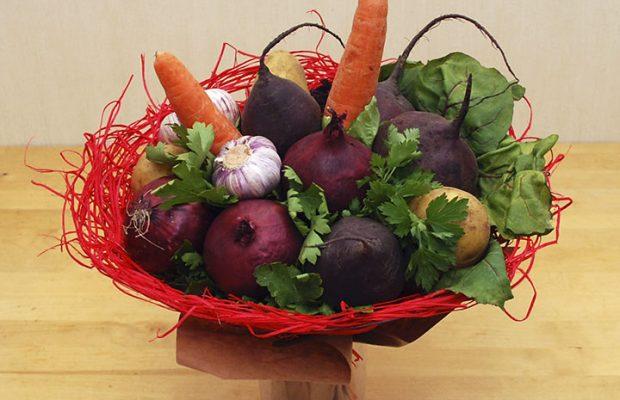 Как сделать букет из овощей своими руками 5