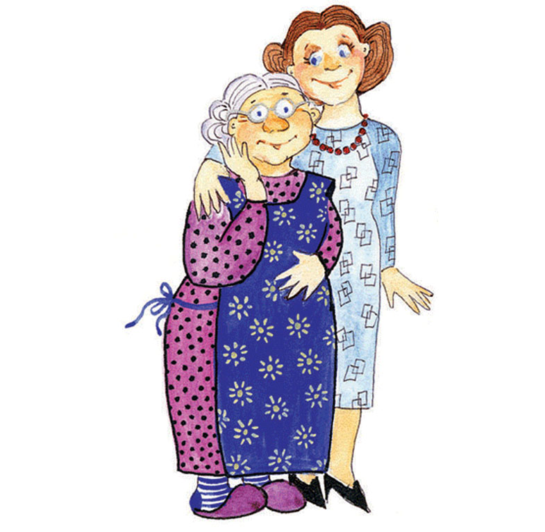 Как нарисовать бабушку дедушку маму и себя