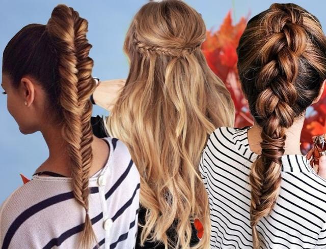 Прически на 1 сентября на средние тонкие волосы