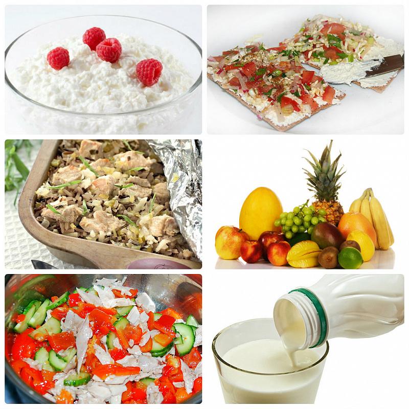 Пример питания для похудения при занятиях